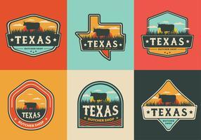 Pacote de vetores de crachá do Texas