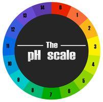 O círculo da escala de ph vetor