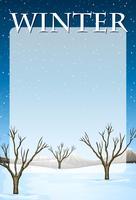 Design de fronteira com tema de inverno vetor