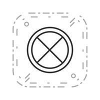 Estrada de vetor fechado ícone
