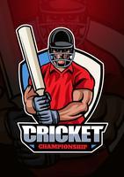 Logotipo do campeonato de críquete vetor