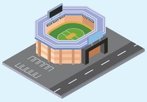 Ilustração em vetor estádio de críquete