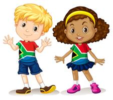 Menino e menina da África do Sul vetor
