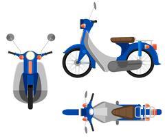 Uma motocicleta vetor