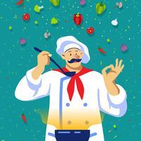 Chef de cozinha vetor