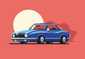Carro americano clássico vetor