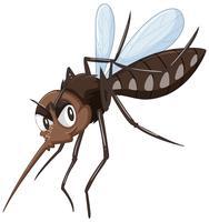 Mosquito na cor marrom vetor