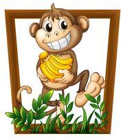 Macaco e Banana vetor
