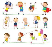 Crianças simples vetor