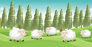Ovelhas sorridentes vetor