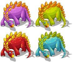 Dinossauros, com, picos, rabo