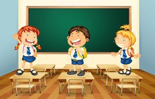 Alunos e sala de aula vetor