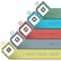 Banners 3D para web design vetor