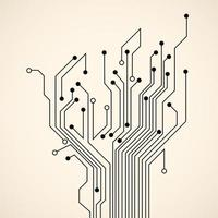 árvore de circuito abstrato vetor