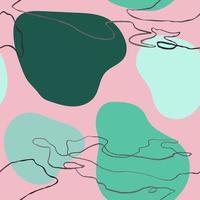 Vector moderno padrão sem emenda com mão colorida desenhar elementos abstratos, rabiscos. use-o para papel de parede, impressão em tecido, preenchimentos de padrão, página da web, texturas de superfície, papel de embrulho, apresentação de design