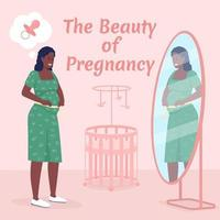 maquete de post de mídia social de maternidade. beleza da frase de gravidez. modelo de design de banner da web. impulsionador da maternidade feliz, layout de conteúdo com inscrição. pôster, anúncios impressos e ilustração plana vetor