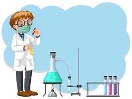 Uma experiência de cientista no laboratório vetor