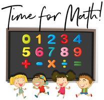 Crianças contando números a bordo
