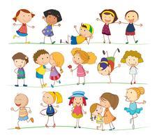 crianças simples
