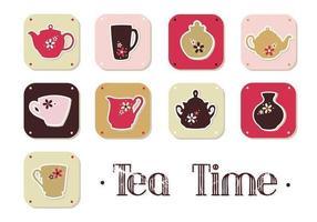 Pacote do vetor do tempo do chá