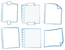Doodle design para papéis em branco vetor