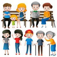 Pessoas em diferentes idades vetor