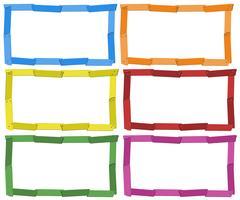 Modelo de quadro em seis cores vetor