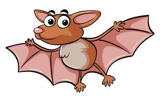 Morcego com cara feliz vetor