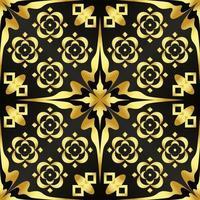 esta é uma textura dourada com botões e estrelas no estilo art déco vetor