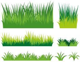Diferentes doodles de grama vetor