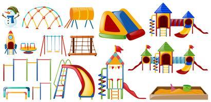 Estações diferentes no playground vetor