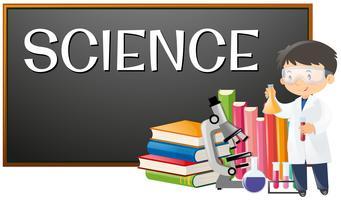 Professor e assunto da ciência na escola vetor