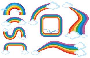 Diferentes formas de arco-íris vetor
