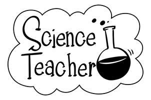 Frase em inglês para professor de ciências vetor