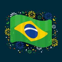 Vetor de bandeira do brasil
