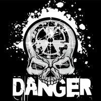 emblema industrial com crânio