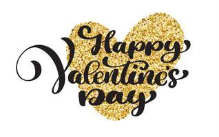 Happy Valentines Day Hand Lettering de desenho vetorial vetor