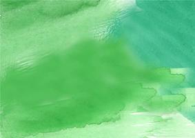 Mão colorida pintada em aquarela de fundo. Pinceladas de aquarela verde. Textura e fundo abstratos da aguarela para o projeto. Fundo aquarela sobre papel texturizado. vetor