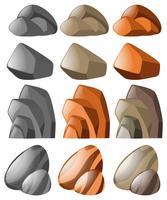 Formas diferentes de pedra vetor