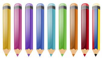 Jogo, de, lápis cor vetor