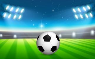 Uma bola de futebol no campo vetor