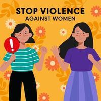 apoiar campanha para acabar com a violência contra as mulheres vetor