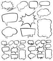 Forma diferente de bolhas do discurso vetor