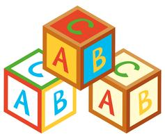 Desenho 3D para blocos de alfabeto