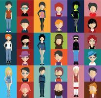 Avatar de pessoas com variações de corpo inteiro e torso