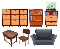 Diferentes tipos de móveis vetor