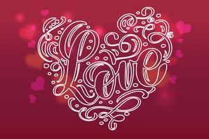 Cartão de dia dos namorados com coração vintage