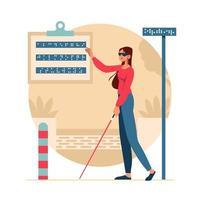 desabilitar conceito de suporte de comunicação de mulher vetor