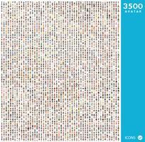 Conjunto de ícones de pessoas com rostos