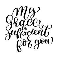 Minha graça é suficiente para você
